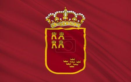 Flag of the Region of Murcia is an autonomous community of Spain