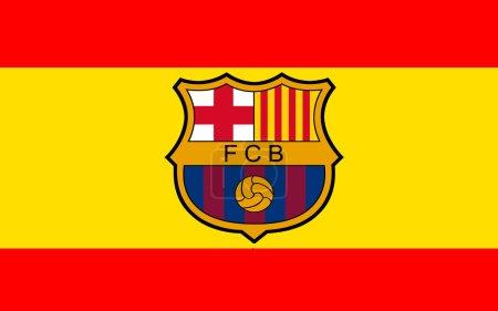 Flag football club FC Barcelona, Spain...