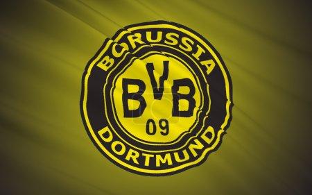 Photo pour Club de football Fc Borussia Dortmund, Gegmany du pavillon - image libre de droit