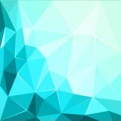 Abstract polygonal geometric facet shiny Turquoise background illustration