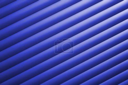 Photo pour Structure d'une porte de garage bleue en aluminium - image libre de droit