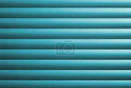Photo pour Détail d'une porte de garage turquoise - image libre de droit