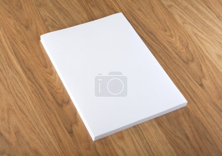 Photo for Blank flyer poster on wood to replace your design - Royalty Free Image