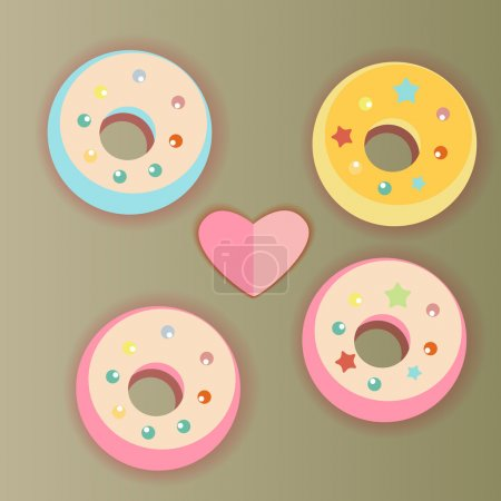 Donuts and heart
