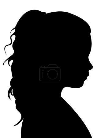 Illustration pour Un vecteur de silhouette tête d'enfant - image libre de droit