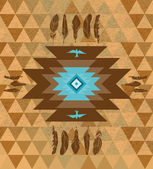 Vector colorful decorative ethnic native americans background