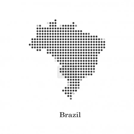 Dotted map of Brazil for your design