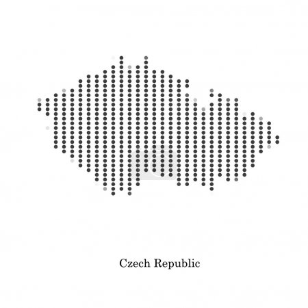 Dotted map of Czech Republic for your design