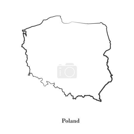 Illustration pour Carte de La Pologne pour votre design, concept Illustration . - image libre de droit