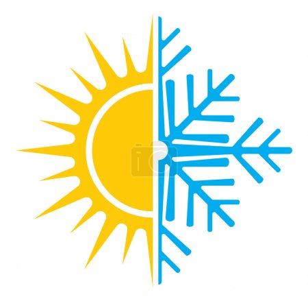 Air conditioning vector icon - summer winter