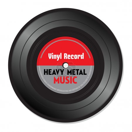 Heavy metal vinyl record