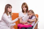 Pediatrician prescribes treatment to child and her mother explains recipe