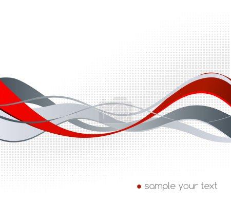 Foto de Elemento de diseño abstracto color rojo y gris de la onda. Roja de la onda - Imagen libre de derechos