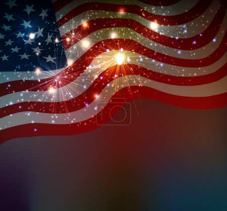 Photo for Fireworks background for 4th of July Independense Day - Royalty Free Image
