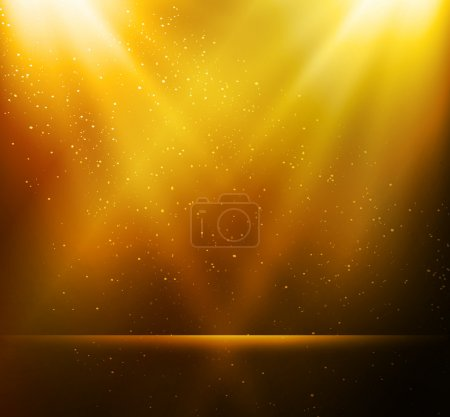 Illustration for Vector  illustration Abstract magic gold light background - Royalty Free Image