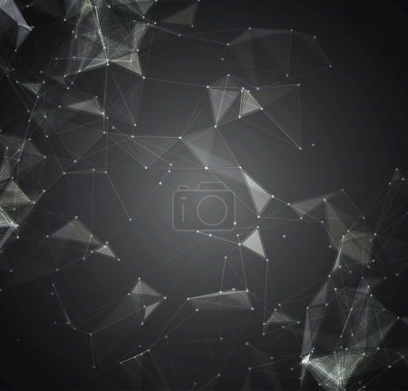 Abstract mesh background with circles, lines and shapes