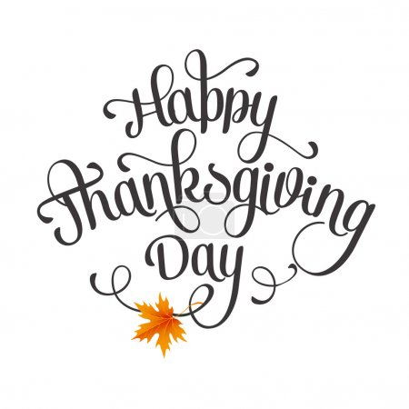 Illustration for Happy Thanksgiving lettering. Vector background. EPS 10 - Royalty Free Image
