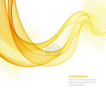 Illustration for Vector smooth Yellow Transparent abstract waves For cover book, brochure, flyer, poster, magazine, website, annual report - Royalty Free Image