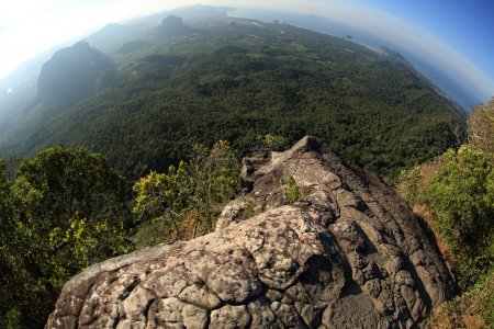 view on mountain top