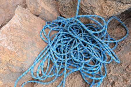 rope at rocky background