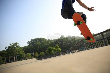 young woman at skatepark