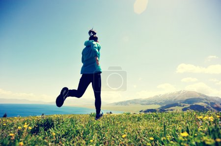 fitness woman running outdoor