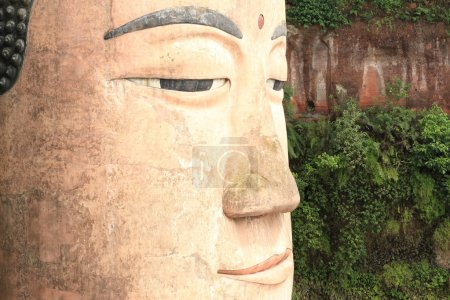 Large buddha statue in Leshan, Sichuan, China