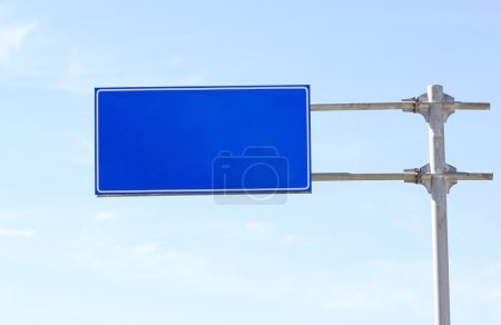 Highway road sign
