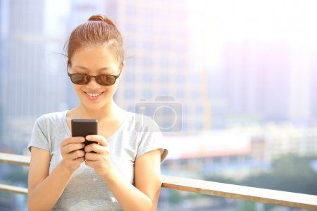 Young woman use cellphone
