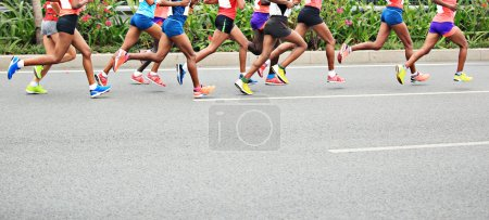 Marathon athletes competing in fitness