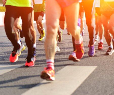 Marathon athletes competing in fitness