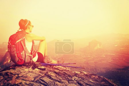 Hiker on mountain top