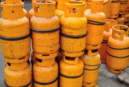 Yellow gas containers