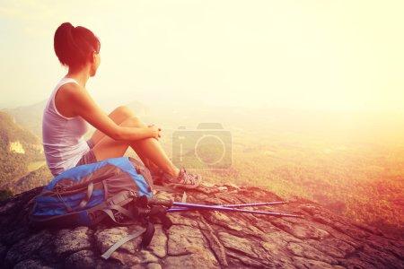 Hiker on mountain top