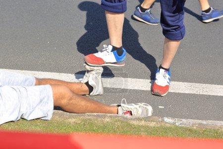 Injured runner legs