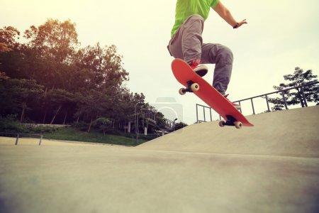 female Skateboarding at  park