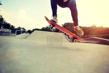 skateboarder legs skateboarding