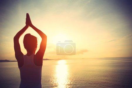 Healthy yoga woman meditation