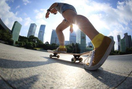 legs skating board  in park