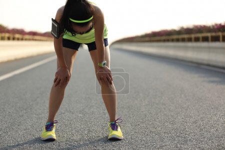 tired woman runner