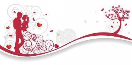 Illustration for Lovely valentines background with a lot of hearts - Royalty Free Image