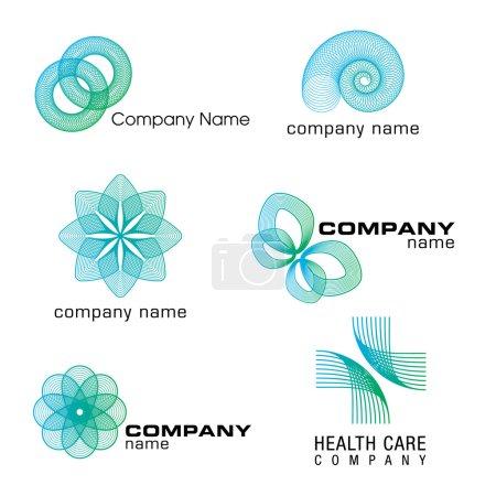 3D Wireframe Logo Designs