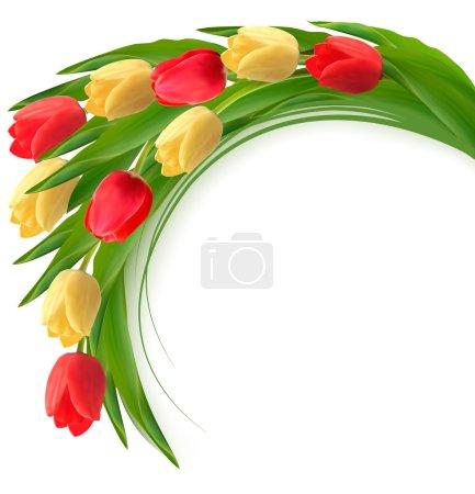 Illustration pour Fond de vacances avec bouquet de fleurs colorées. Illustration vectorielle - image libre de droit