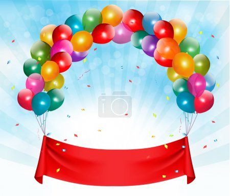 Illustration for Happy birthday banner background. Vector. - Royalty Free Image