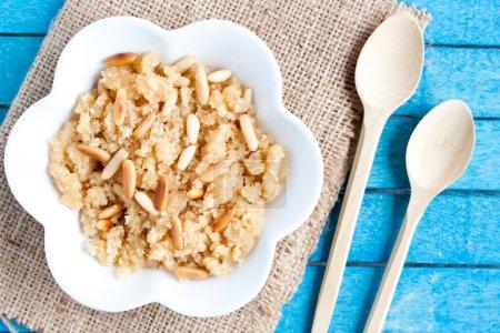 Semolina halvah with pine nut