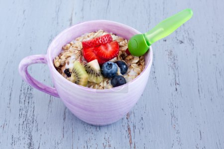 Tasty Muesli with fruits