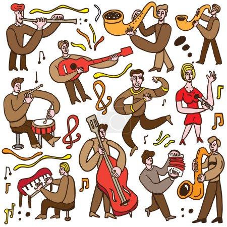 musicians - cartoons set