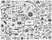 computer games - doodles collection