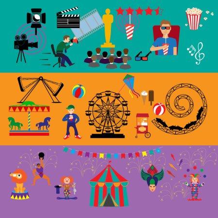Amusement Park. Culture and Art icons