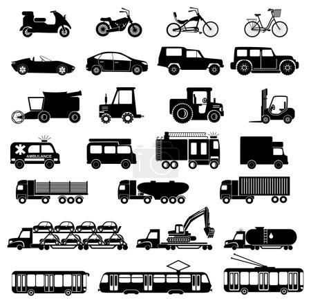 Illustration pour Illustration des icônes de transport . - image libre de droit